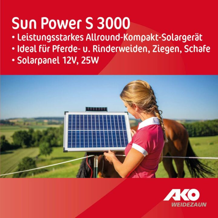 Weidezaunset Sun Power 3000